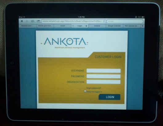 Ankota on the iPad