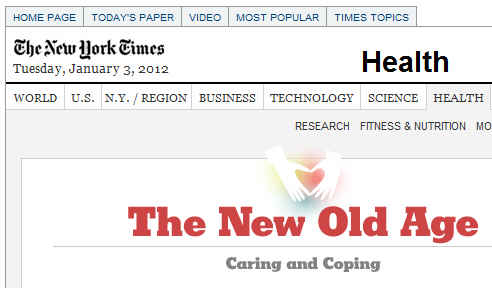 New Old Age Blog in New York Times