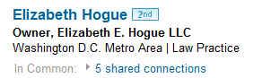 Elizabeth Hogue Esq on LinkedIn