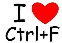 I Love CTRL F