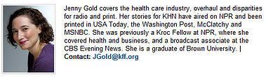 Jenny Gold KHN bio