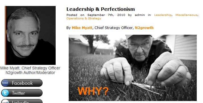 Leadership perfectionism