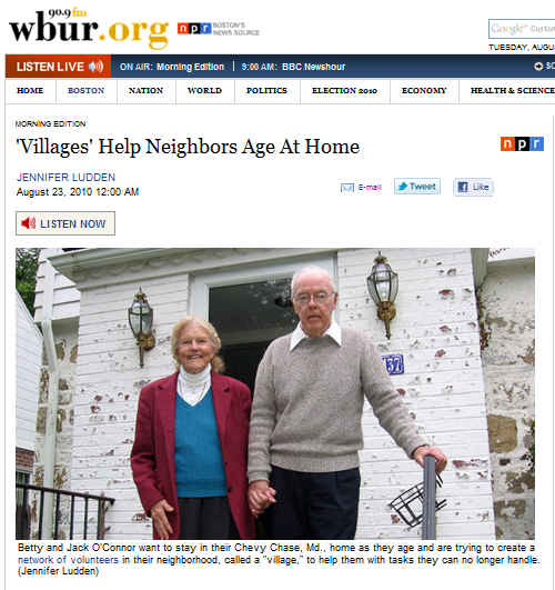 NPR Aging in Place
