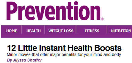 Prevention Mag Health Boosts