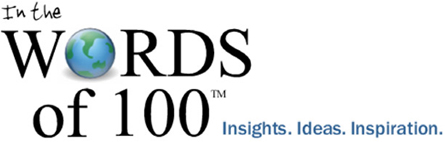 WORDSof100 logo