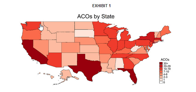 Number of ACOs by State