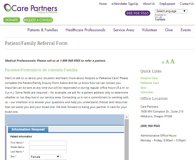 Care Partners Referral Ankota Homecare Best Practices