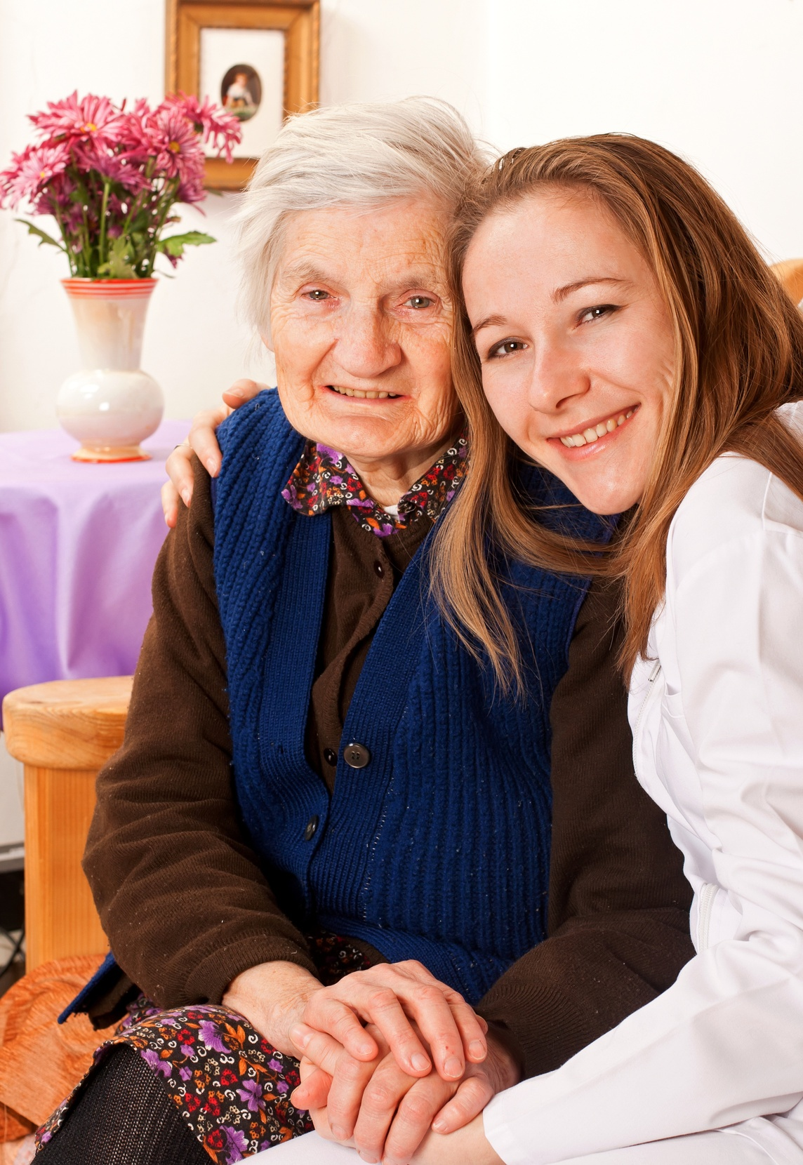 Elder woman and her home care caregiver