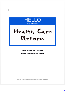 Ankota Home Care Triple Aim White Paper