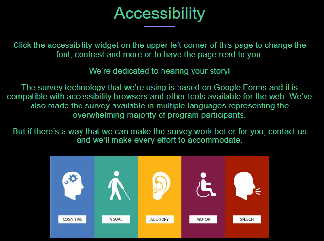 Home Care Accessibility widget