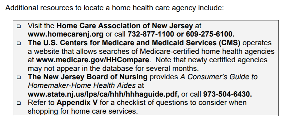 New Jersey Home Health