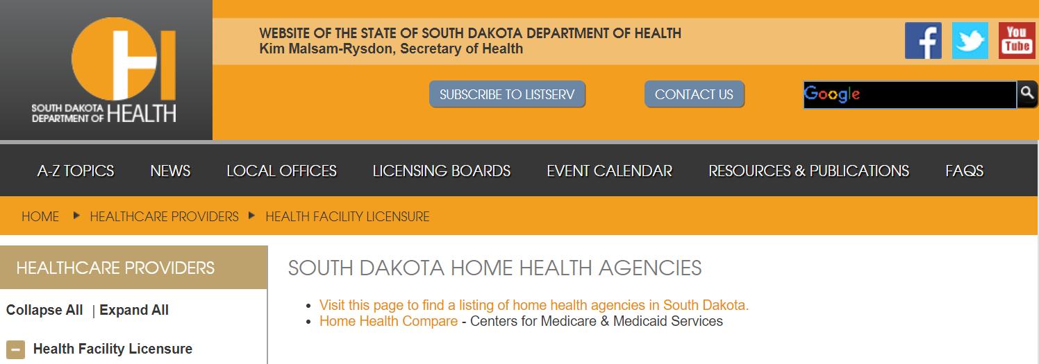South Dakota Home Health