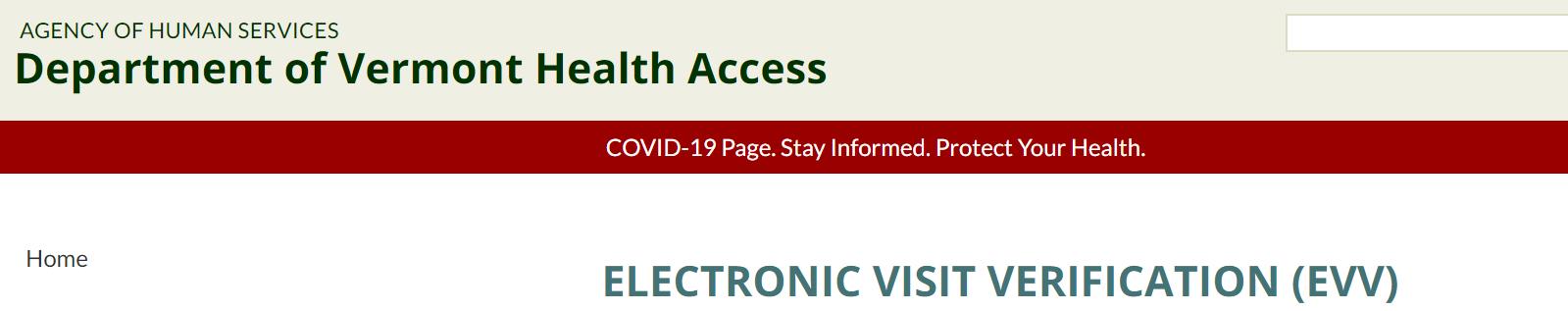 Vermont Medicaid EVV